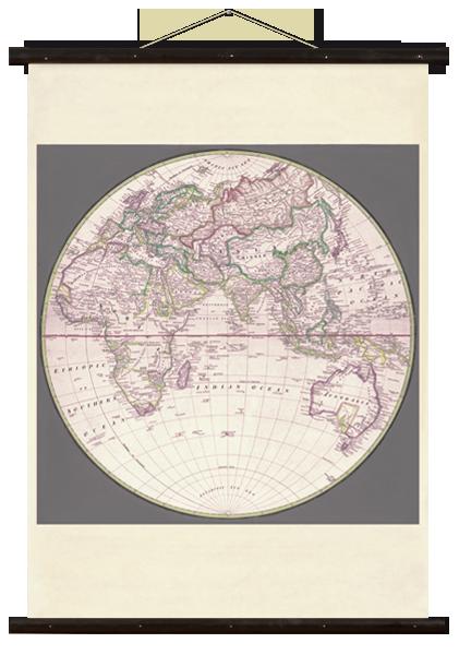 wallchart world map